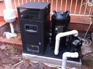 Gas heater install